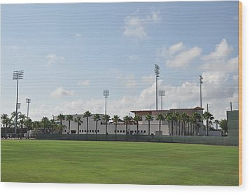 Phillies Brighthouse Stadium Clearwater Florida Wood Print by Bill Cannon
