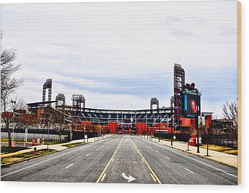 Phillies Stadium - Citizens Bank Park Wood Print by Bill Cannon