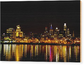 Philly Nights Wood Print by Bill Cannon
