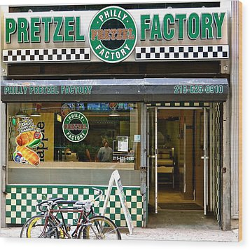 Philly Pretzel Factory Wood Print by Ira Shander