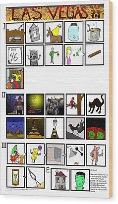 Phish 10/31/14 Illustrated Setlist Wood Print by Josean Rivera