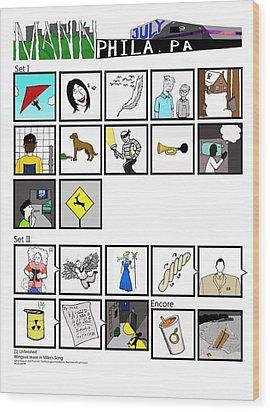 Phish 7/9/14 Mann Center Night II Wood Print by Josean Rivera
