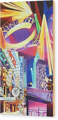 Phish New Years In New York Left Panel Wood Print by Joshua Morton