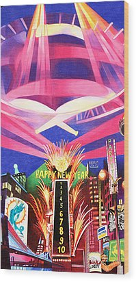 Phish New Years In New York Middle Wood Print by Joshua Morton