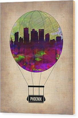 Phoenix Air Balloon  Wood Print by Naxart Studio