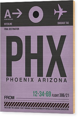 Phoenix Airport Poster 1 Wood Print by Naxart Studio