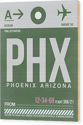 Phoenix Airport Poster 2 Wood Print by Naxart Studio