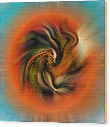 Phoenix Wood Print by Alessandro Della Pietra