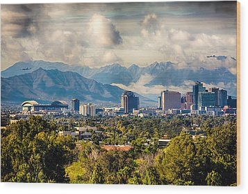 Phoenix Downtown Wood Print