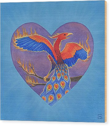 Phoenix Wood Print by Lisa Kretchman