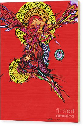 Phoenix Woman  Wood Print
