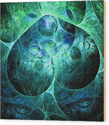 Phosphorescence Wood Print by Anastasiya Malakhova