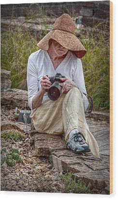 Photographer Wood Print by Linda Unger