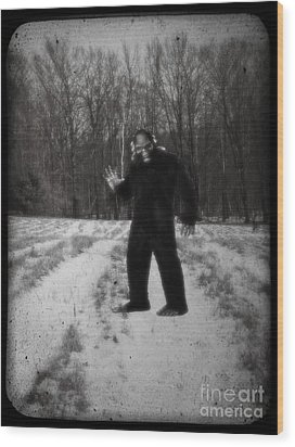 Photographic Evidence Of Big Foot Wood Print by Edward Fielding