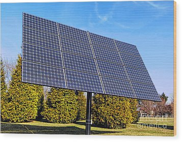 Photovoltaic Wood Print by Olivier Le Queinec
