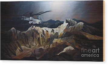 Phrogs Over Afghanistan Wood Print