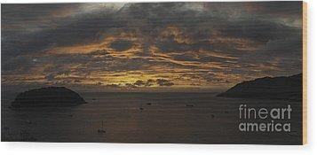 Phuket Sunset Wood Print by Alex Dudley