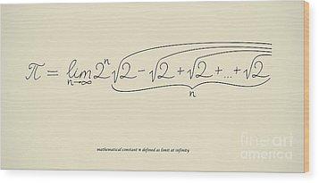 Pi As Limit At Infinity Wood Print