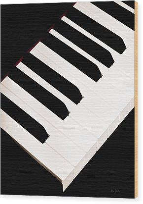 Piano Wood Print by Bob Orsillo