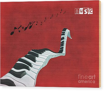 Piano Fun - S01at01 Wood Print