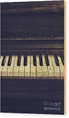 Piano Wood Print by Jelena Jovanovic