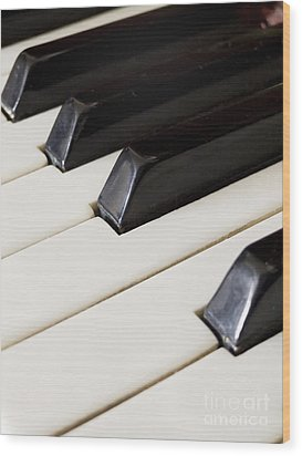 Piano Keys Wood Print by Jelena Jovanovic