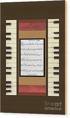 piano keys sheet music to Keep Of The Promise by Kristie Hubler Wood Print by Kristie Hubler