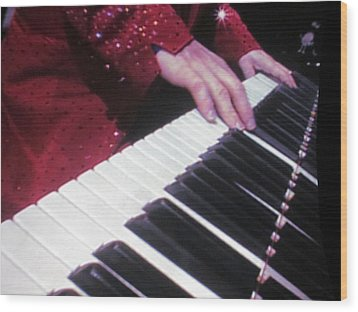Piano Man At Work Wood Print by Aaron Martens