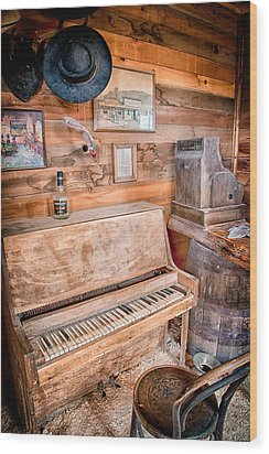 Piano Man Wood Print by Cat Connor