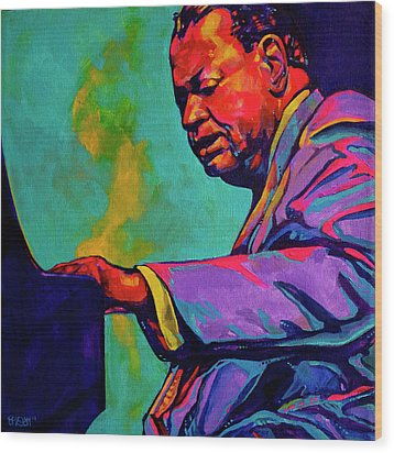 Piano Player Wood Print by Derrick Higgins