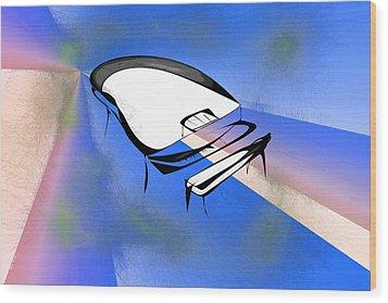 Piano Wood Print by Rick Thiemke