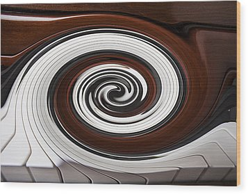 Piano Swirl Wood Print by Garry Gay