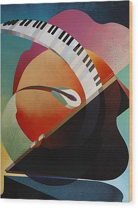 Pianoforte Wood Print by Fred Chuang