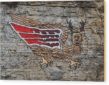 Piasa Bird Wood Print