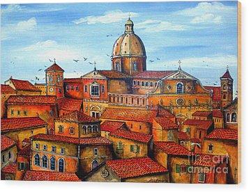 Piazza Armerina Sicily Wood Print by Roberto Gagliardi
