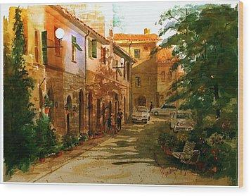 Piazza Della Giada Wood Print