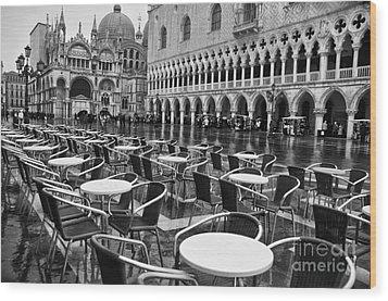 Piazza San Marco Venice Wood Print by Design Remix