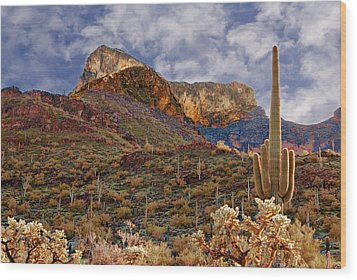 Picacho Peak Wood Print