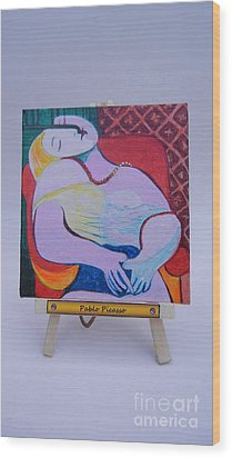 Wood Print featuring the painting Picasso by Diana Bursztein