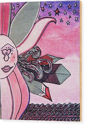 Picasso Lois Golden Rose Art Treasure Hunt Puzzle Number Won Wood Print by Lois Picasso