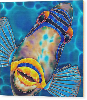 Picasso Triggerfish Wood Print