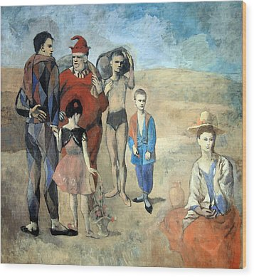 Picasso's Family Of Saltimbanques Wood Print