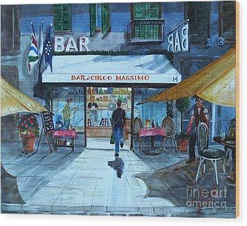Piccolo Bar Circo Massimo Wood Print