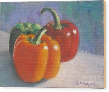 Pick A Pepper Wood Print by Laurie Morgan