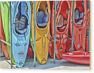Pick Your Color Wood Print by Kenny Francis