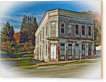 Pickens Wv Painted Wood Print by Steve Harrington