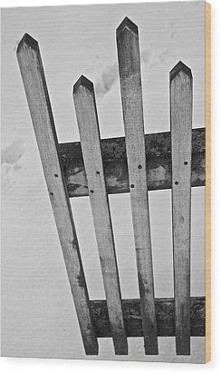 Pickets Wood Print by Odd Jeppesen