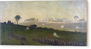Picketts Charge On Union Center 3pm Wood Print