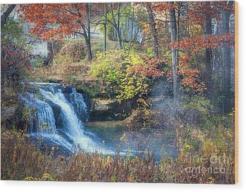Pickwick Mill Falls Wood Print