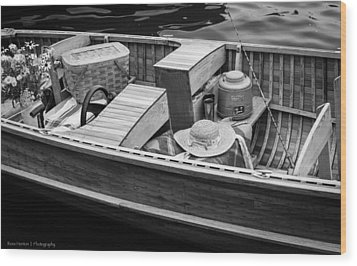 Wood Print featuring the photograph Picnic Boat by Ross Henton